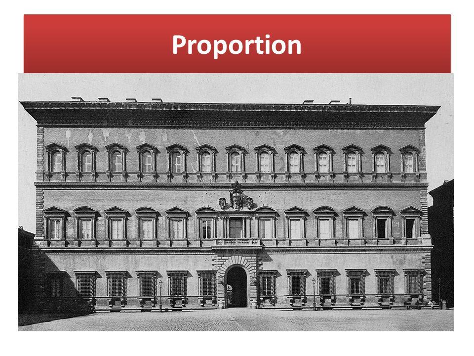 Proportion Maßverhältnisse der einzelnen Bauteile zueinander und zum Gesamtbau. Dabei wird von. einem bestimmten Grundmaß (Modul),