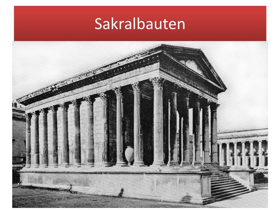 """Sakralbauten Sakralarchitektur (lat. """"sacer = heilig) alle Bauten, die kultischen und religiösen Zwecken dienen."""