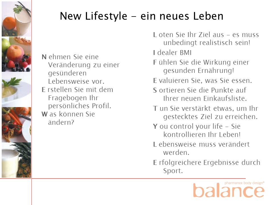 New Lifestyle - ein neues Leben