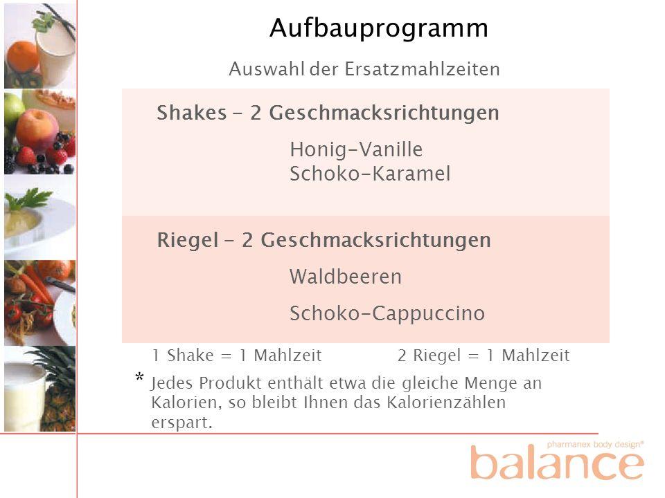 Aufbauprogramm * Shakes - 2 Geschmacksrichtungen