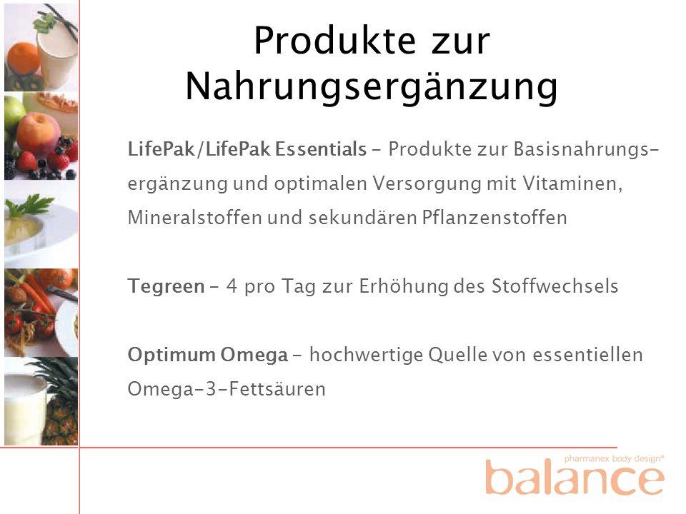 Produkte zur Nahrungsergänzung