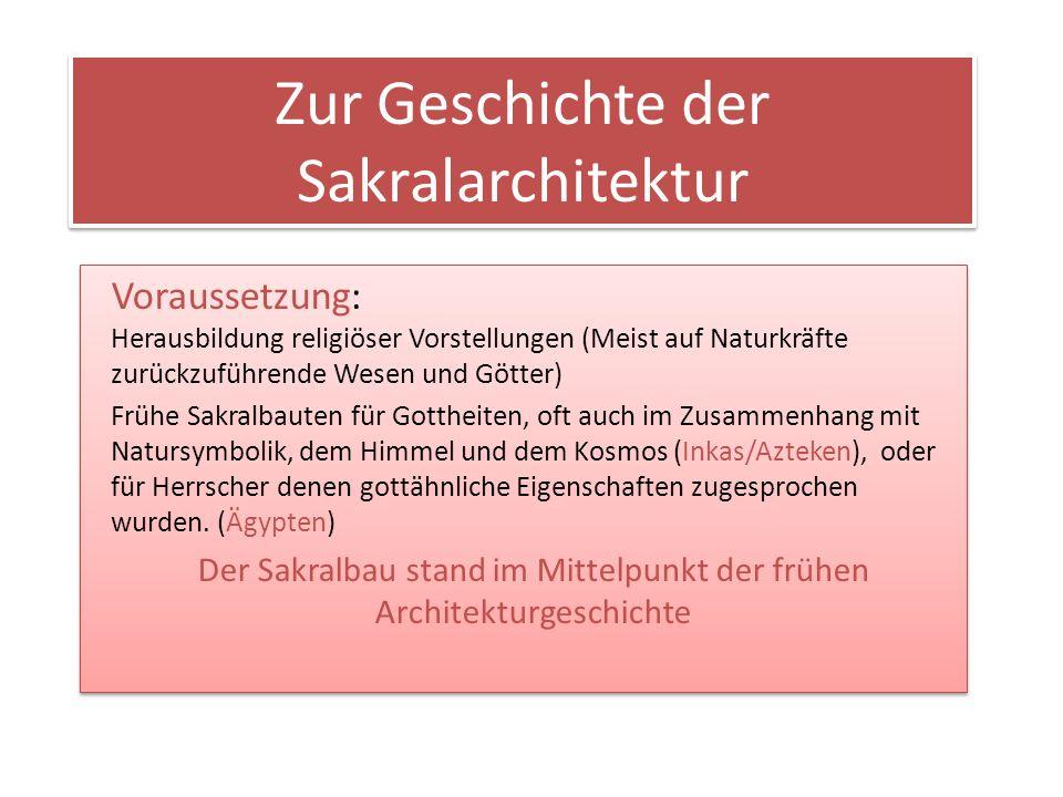 Zur Geschichte der Sakralarchitektur