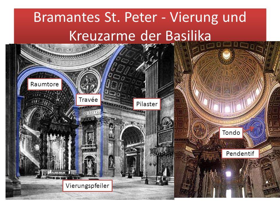 Bramantes St. Peter - Vierung und Kreuzarme der Basilika
