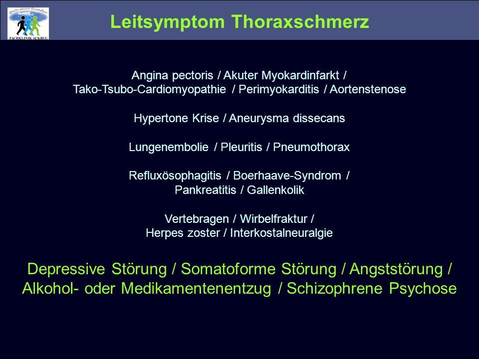 Leitsymptom Thoraxschmerz