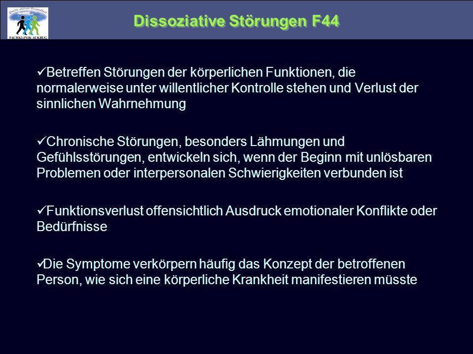 Dissoziative Störungen F44