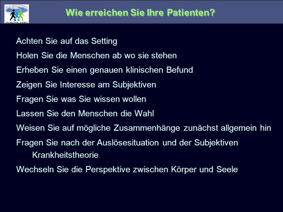 Wie erreichen Sie Ihre Patienten