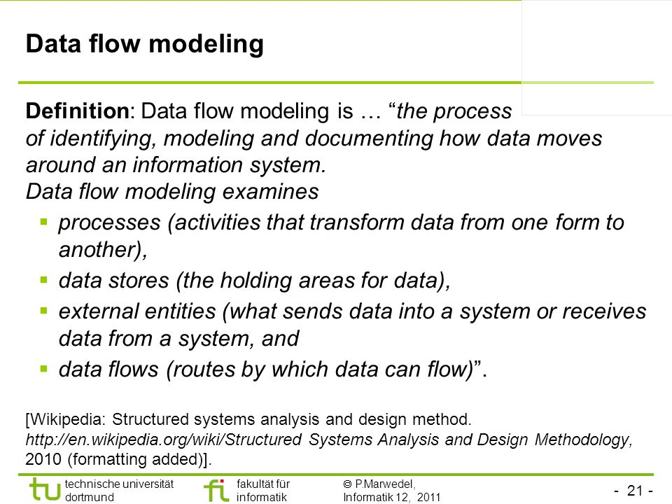 Data flow modeling