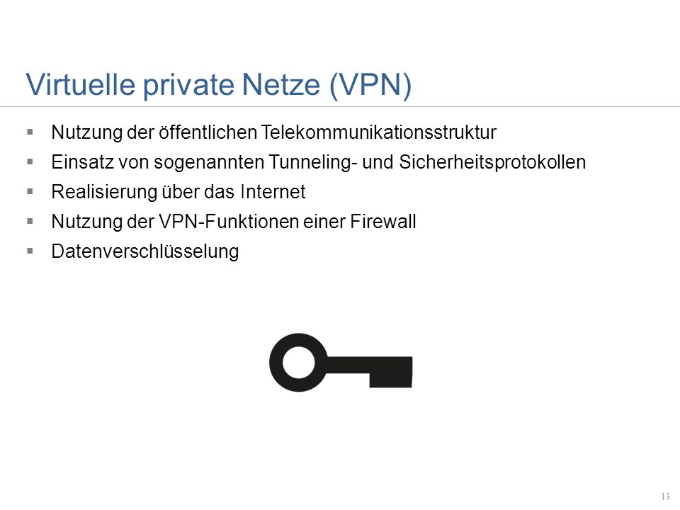 Virtuelle private Netze (VPN)