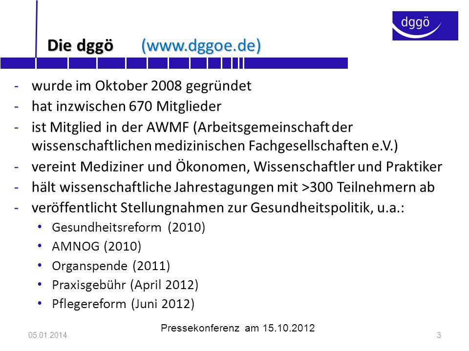 Die dggö (www.dggoe.de) wurde im Oktober 2008 gegründet
