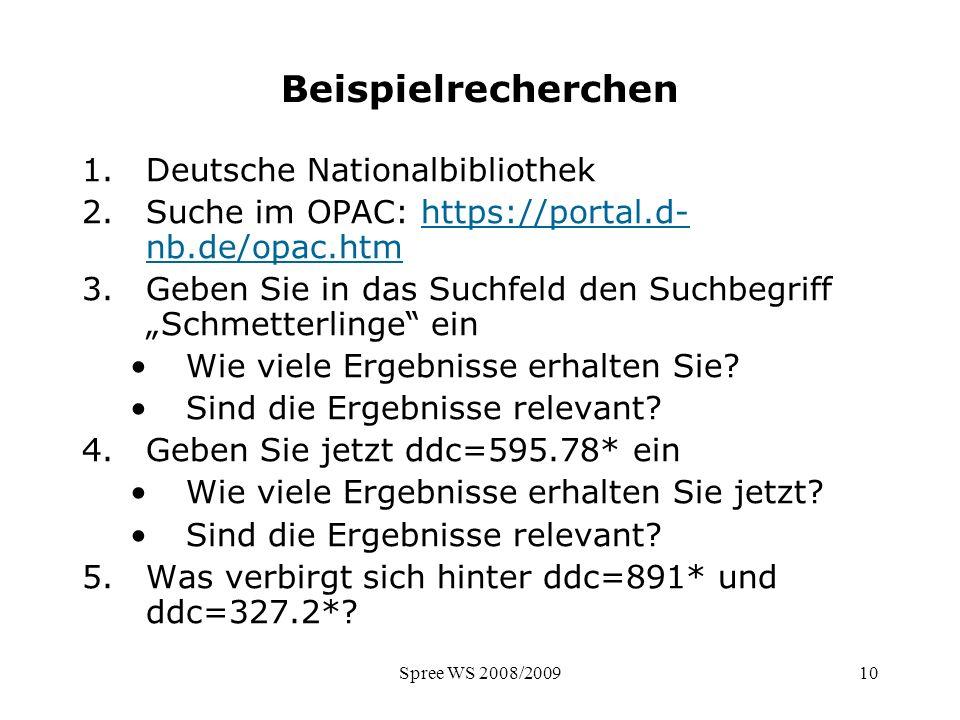 Beispielrecherchen Deutsche Nationalbibliothek