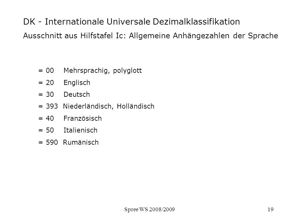 DK - Ausschnitt Hilfstafel Sprache