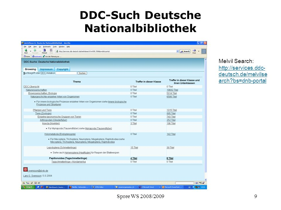 DDC-Such Deutsche Nationalbibliothek