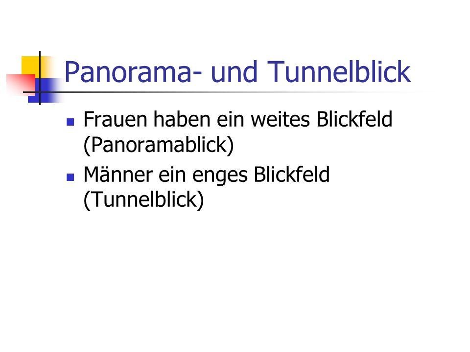 Panorama- und Tunnelblick