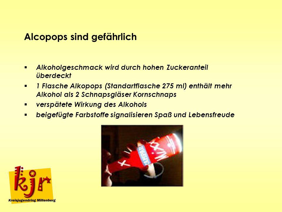 Alcopops sind gefährlich
