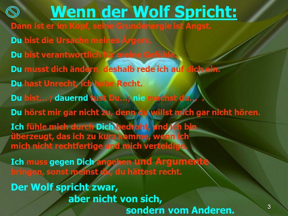 Wenn der Wolf Spricht: Der Wolf spricht zwar, aber nicht von sich,