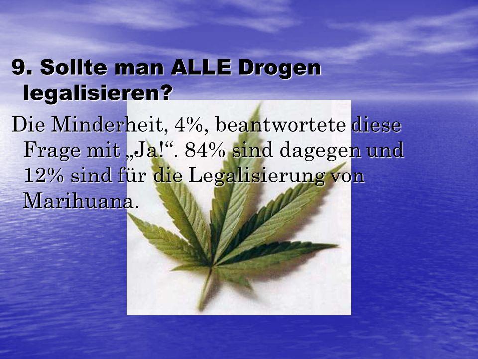 9. Sollte man ALLE Drogen legalisieren