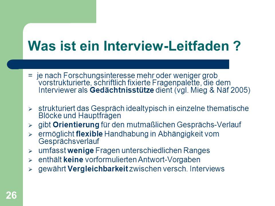 Was ist ein Interview-Leitfaden
