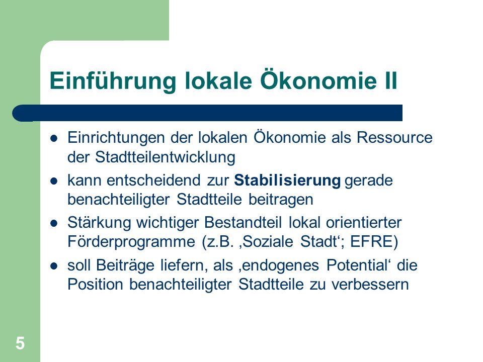 Einführung lokale Ökonomie II