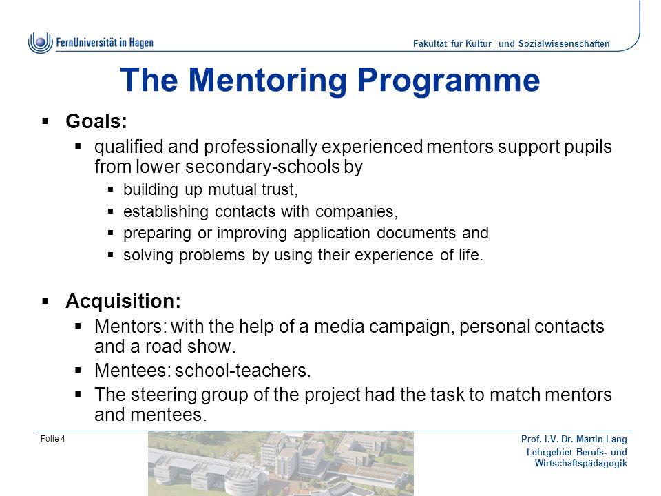 The Mentoring Programme