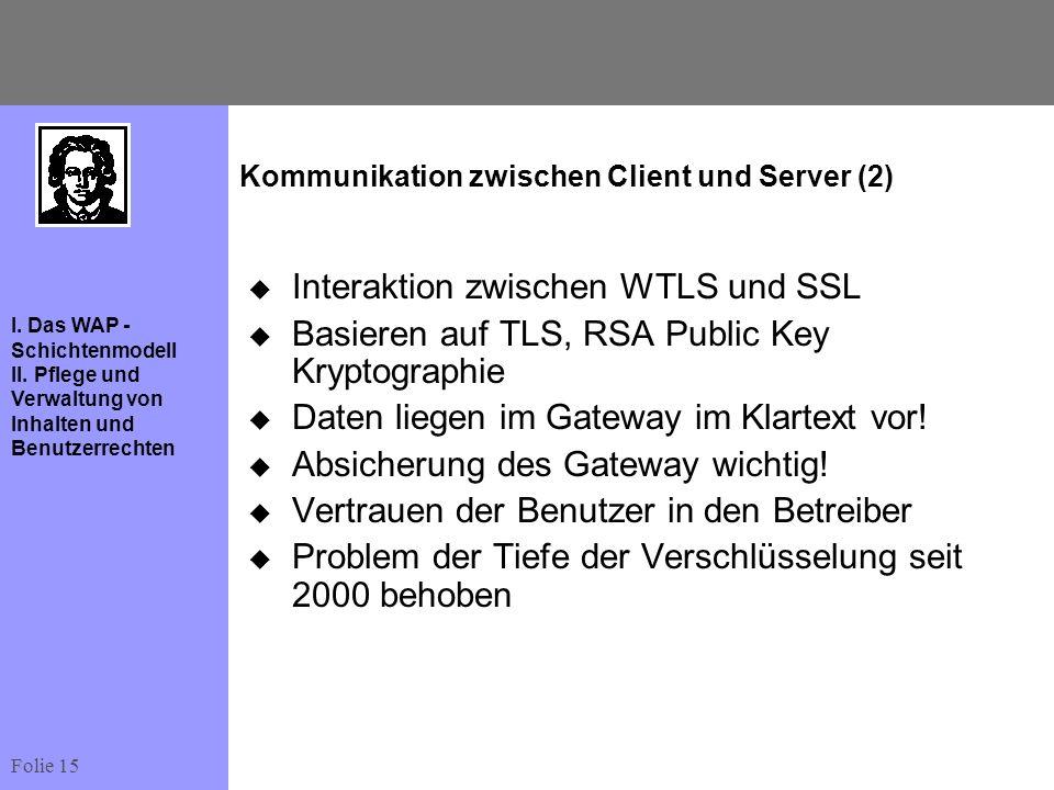 Kommunikation zwischen Client und Server (2)
