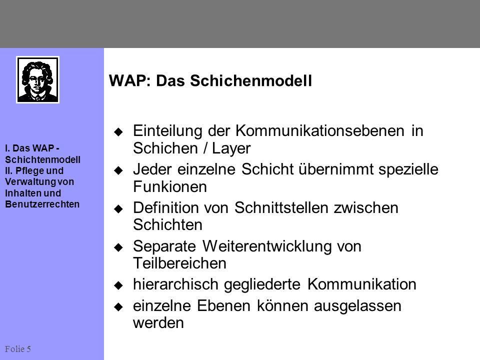 WAP: Das Schichenmodell