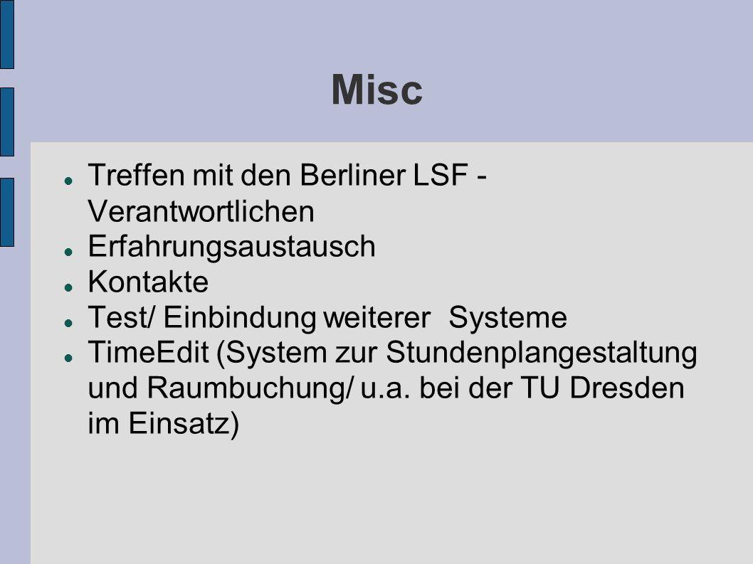 Misc Treffen mit den Berliner LSF - Verantwortlichen