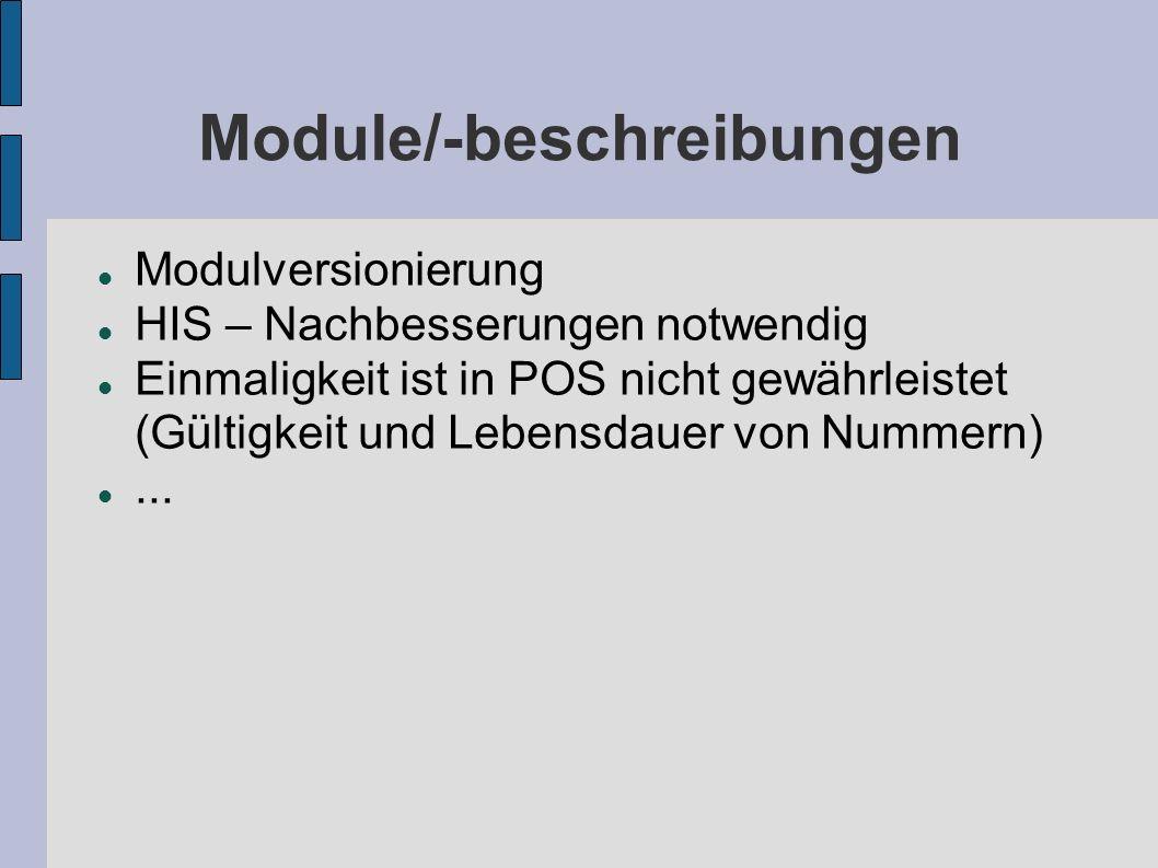 Module/-beschreibungen