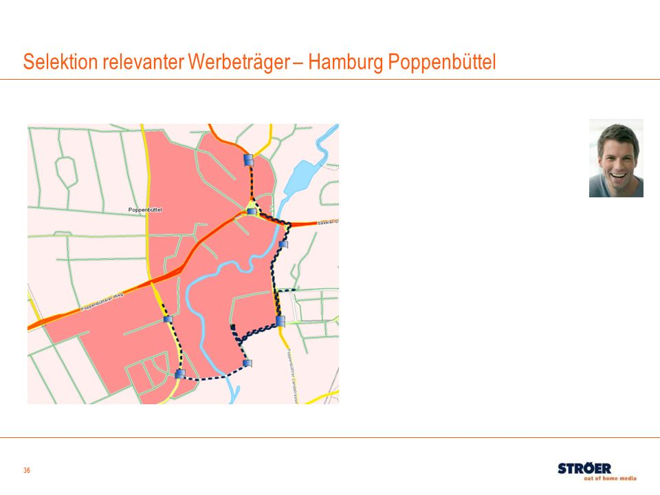 Selektion relevanter Werbeträger – Hamburg Poppenbüttel