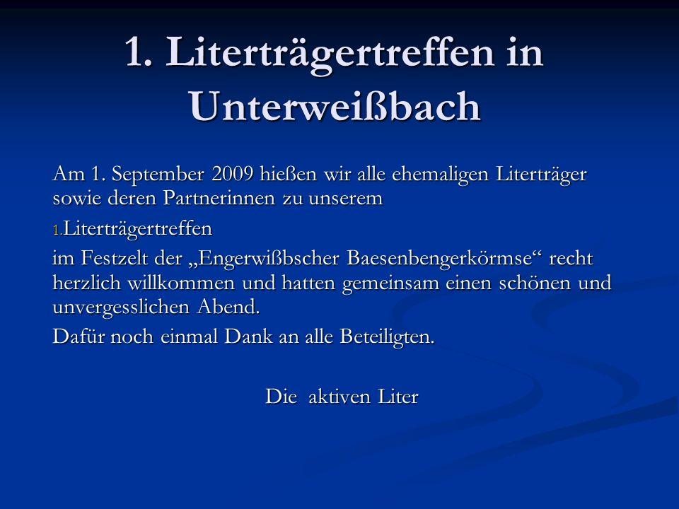 1. Literträgertreffen in Unterweißbach