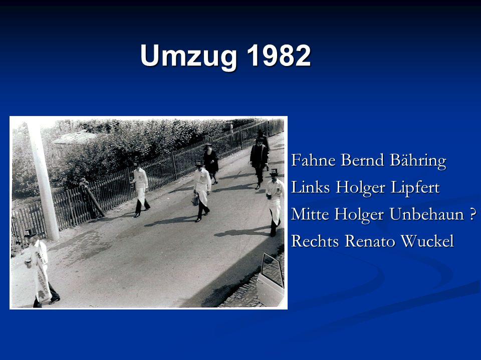 Umzug 1982 Fahne Bernd Bähring Links Holger Lipfert