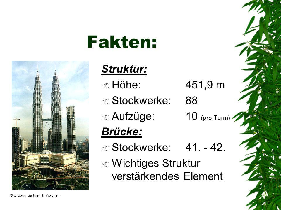 Fakten: Struktur: Höhe: 451,9 m Stockwerke: 88 Aufzüge: 10 (pro Turm)