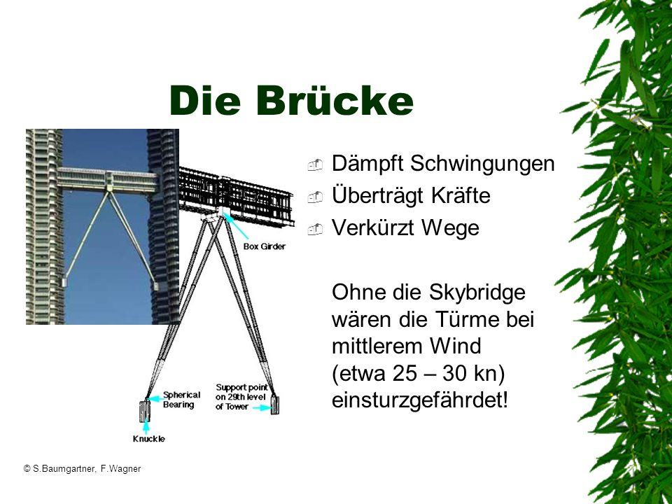Die Brücke Dämpft Schwingungen Überträgt Kräfte Verkürzt Wege