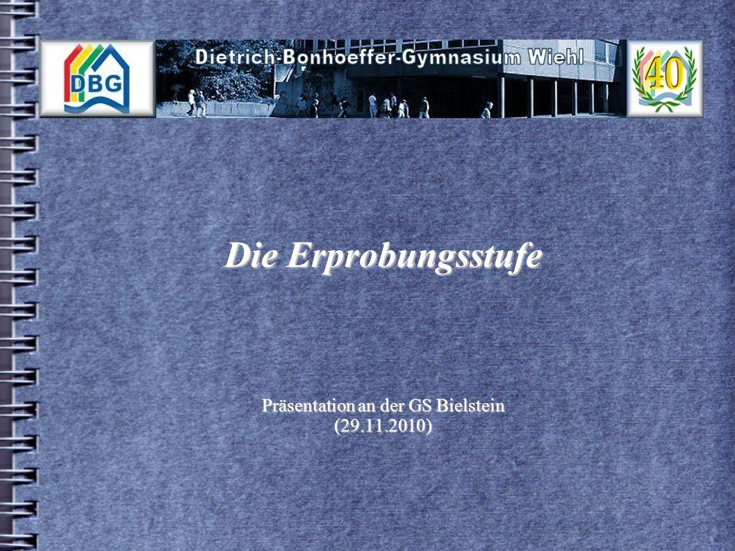 Die Erprobungsstufe Präsentation an der GS Bielstein (29.11.2010)