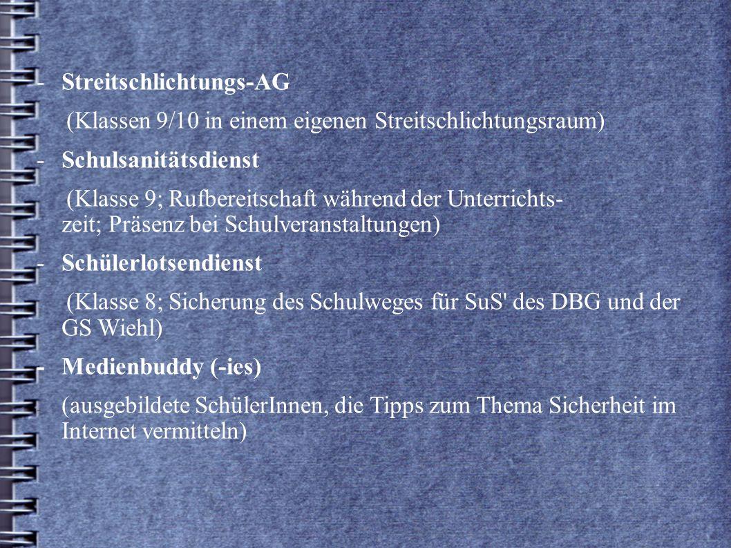 - Streitschlichtungs-AG