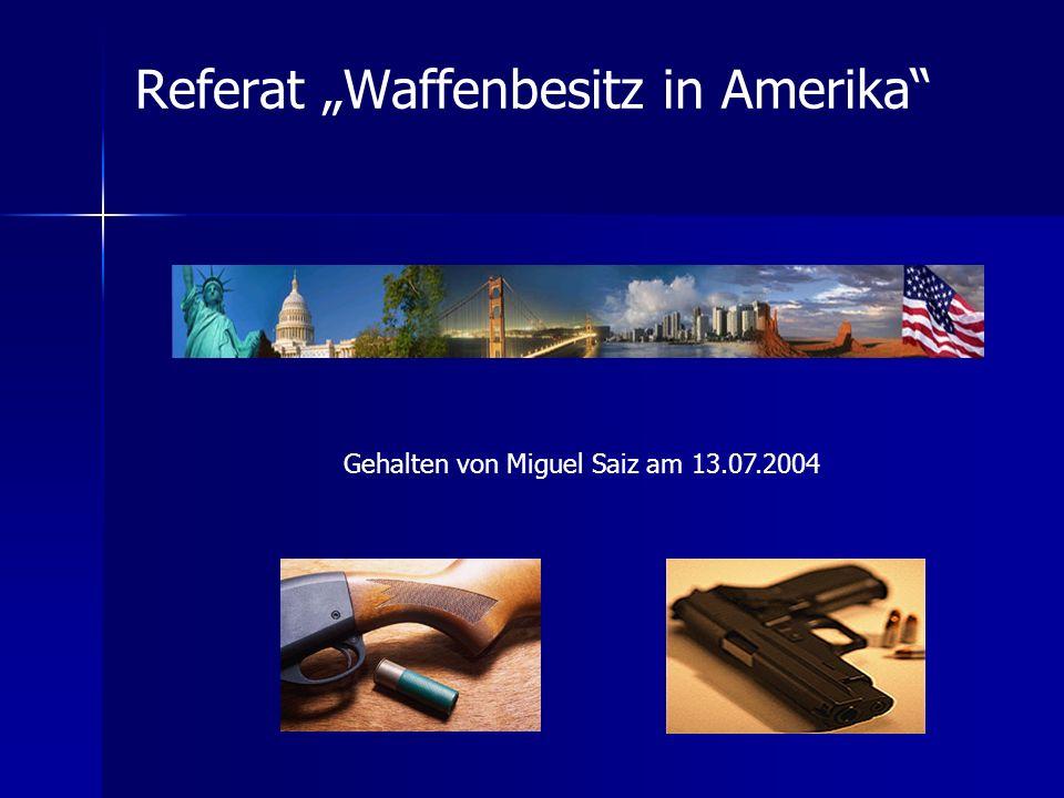 "Referat ""Waffenbesitz in Amerika"