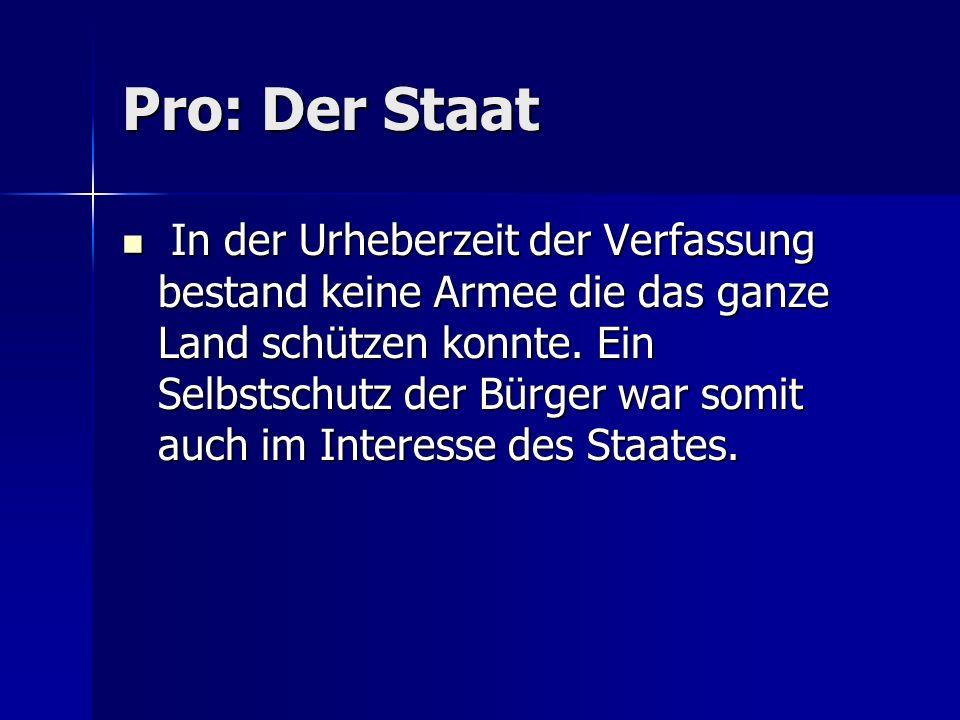 Pro: Der Staat