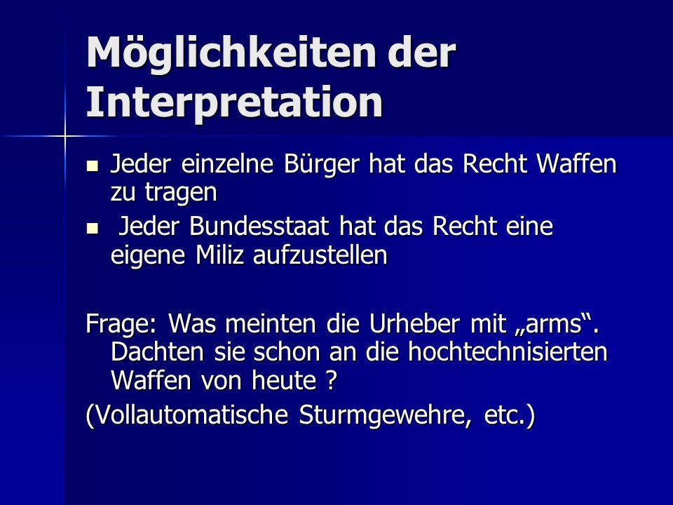 Möglichkeiten der Interpretation