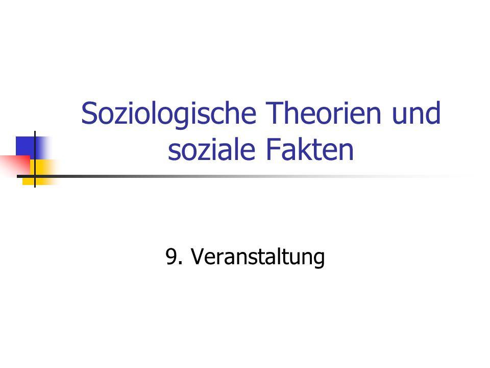 Soziologische Theorien und soziale Fakten