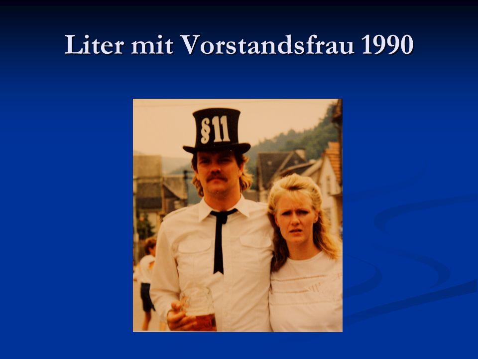 Liter mit Vorstandsfrau 1990