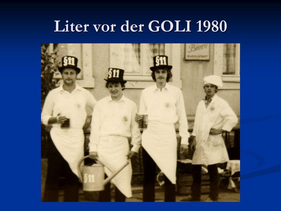Liter vor der GOLI 1980