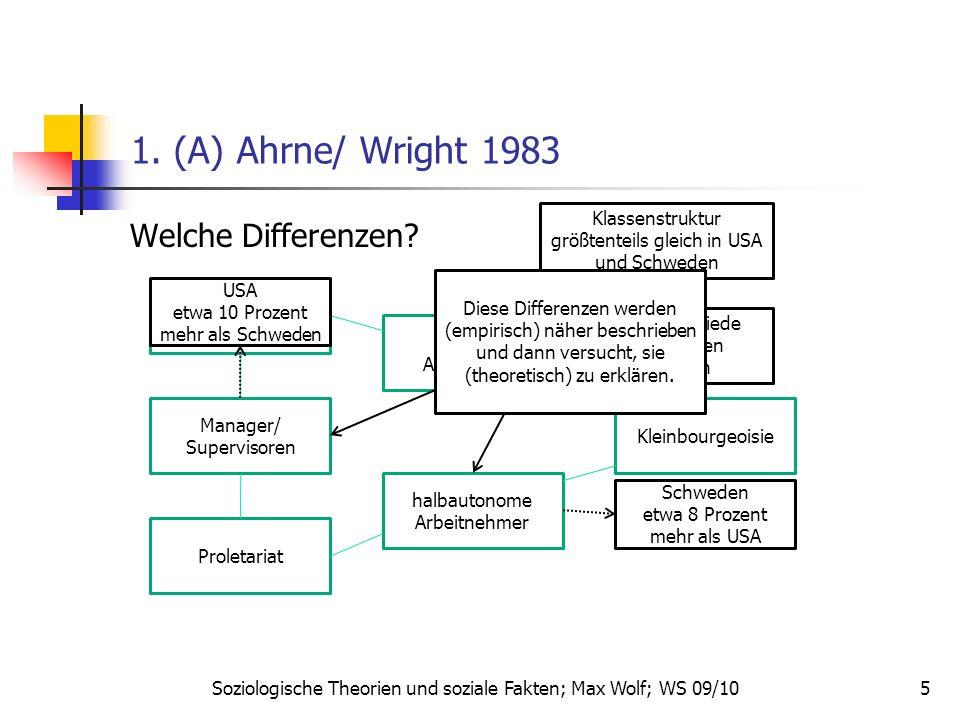 1. (A) Ahrne/ Wright 1983 Welche Differenzen