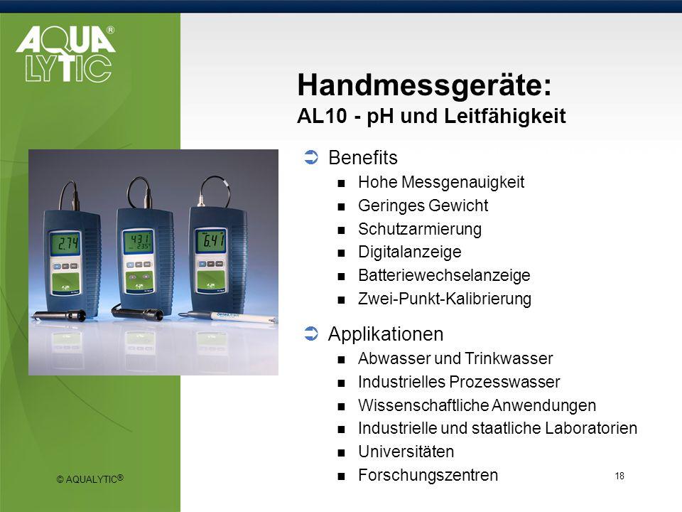 Handmessgeräte: AL10 - pH und Leitfähigkeit