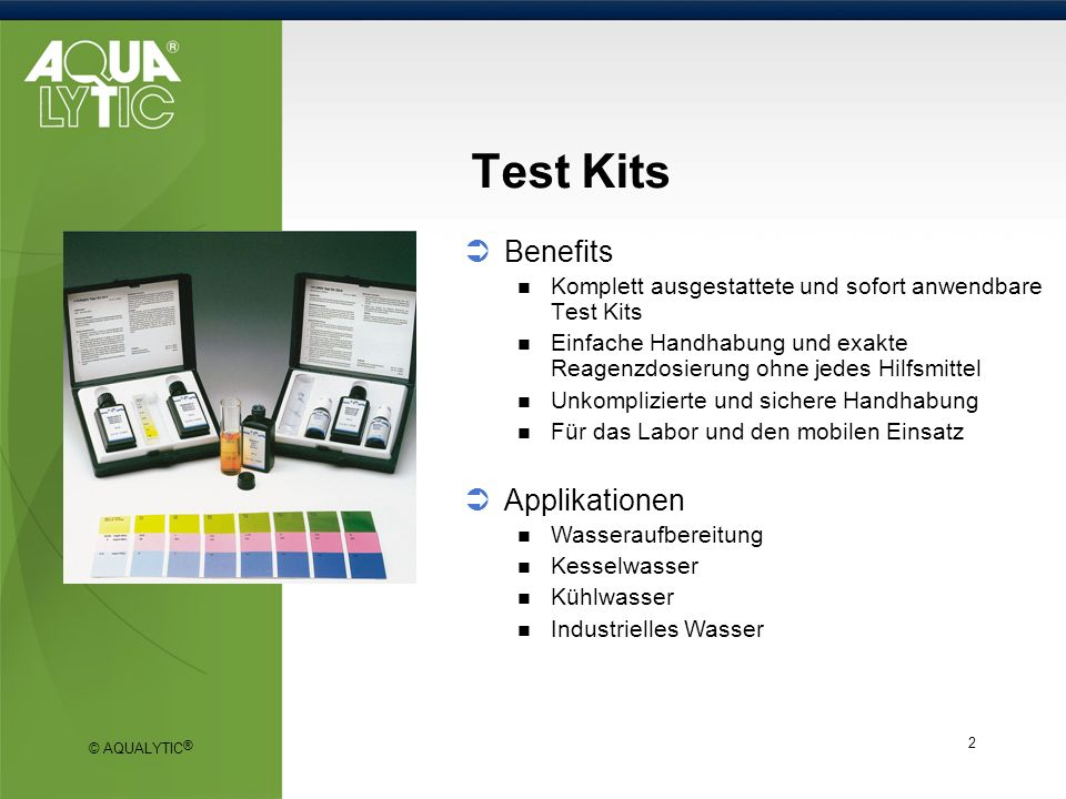 Test Kits Benefits Applikationen