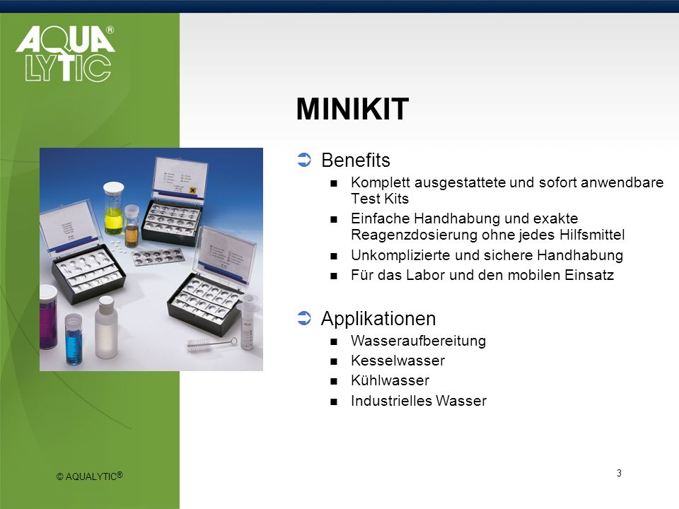 MINIKIT Benefits Applikationen
