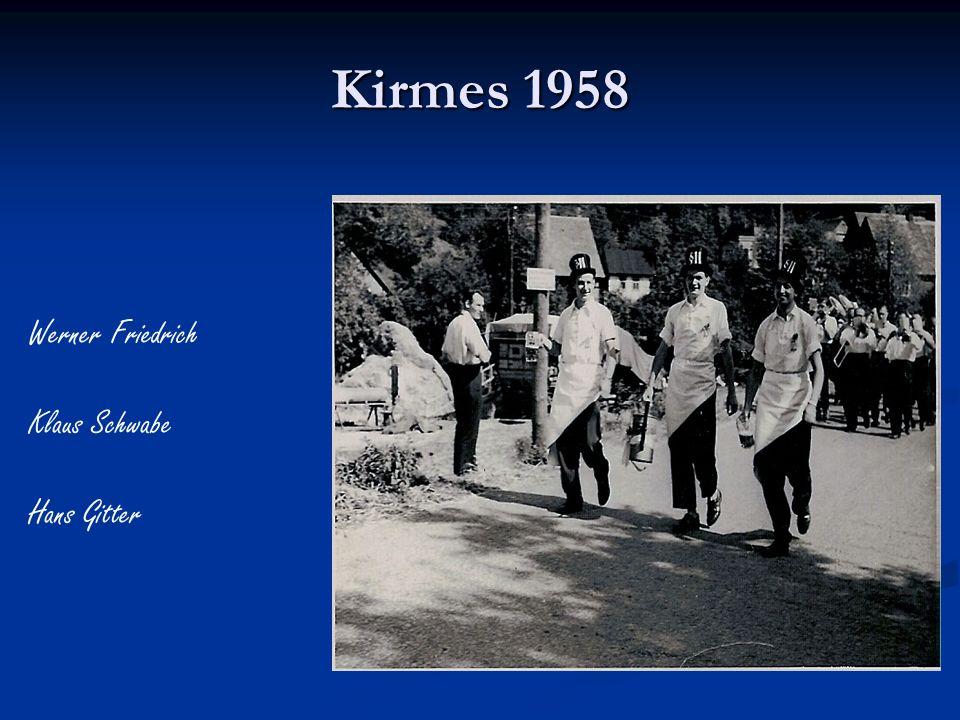 Kirmes 1958 Werner Friedrich Klaus Schwabe Hans Gitter