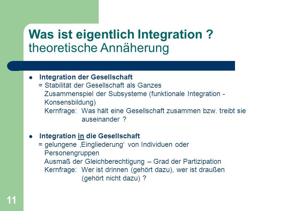 Was ist eigentlich Integration theoretische Annäherung
