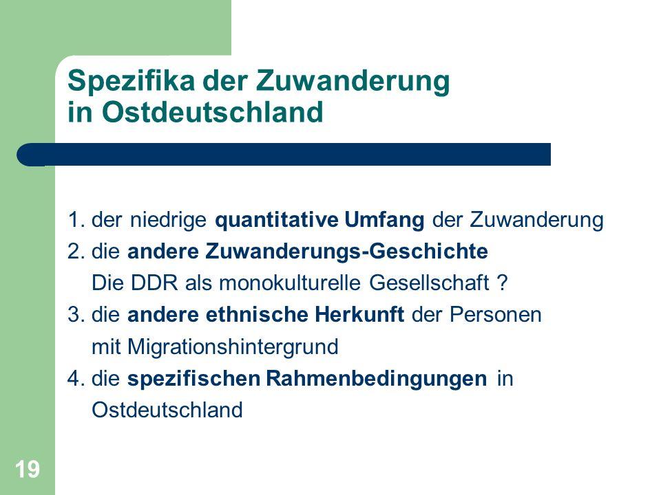 Spezifika der Zuwanderung in Ostdeutschland