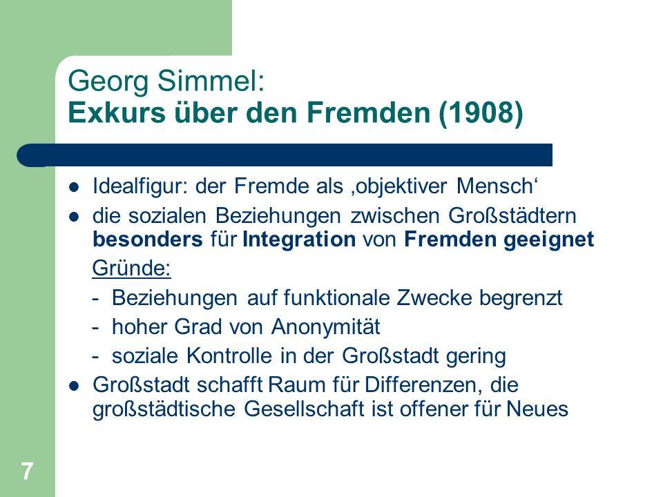 Georg Simmel: Exkurs über den Fremden (1908)