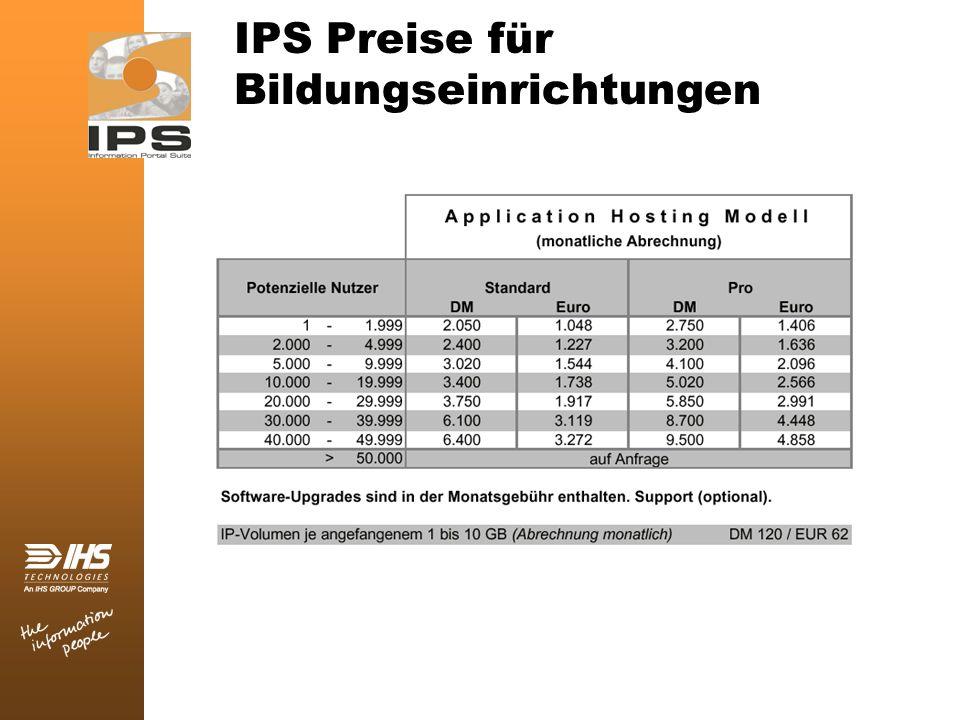 IPS Preise für Bildungseinrichtungen