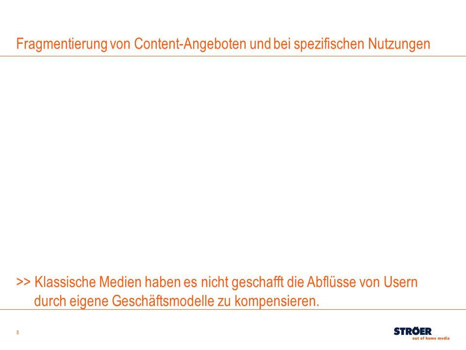 Fragmentierung von Content-Angeboten und bei spezifischen Nutzungen